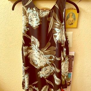 Who What Wear Floral Print Sleeveless Blouse